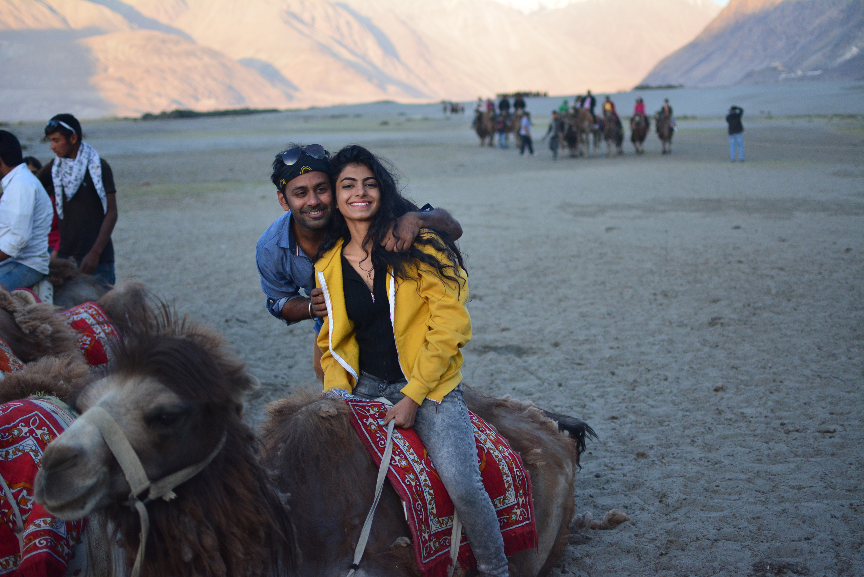camel ride sand dunes